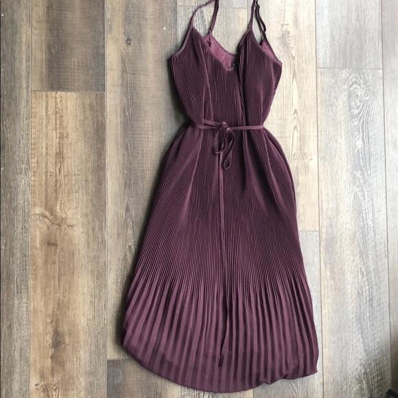 Abercrombie & Fitch Dresses & Skirts - Dark Purple Midi Pleated Dress